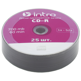 Диск Intro CD-R 700mb 52x Shrink (25шт.)