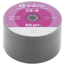 Диск Intro CD-R 700mb 52x Shrink (50 шт.)